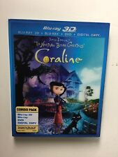Coraline (Blu-ray/DVD, 2011, 2-Disc Set, 3D) NEW w/lenticular slipcover