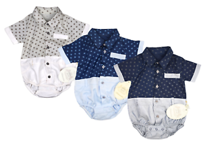 STRAMPLER BABY OVERALL KURZARM BODY JUNGS