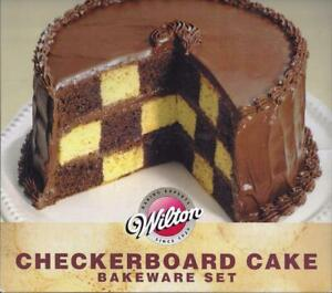 Wilton Round Make Your Own Checkerboard Cake Pan Set 4