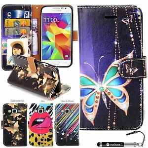low priced 73367 aa858 Details about Madcase Print Diary Book Case Leather Wallet Cover for  Samsung Galaxy Core Prime