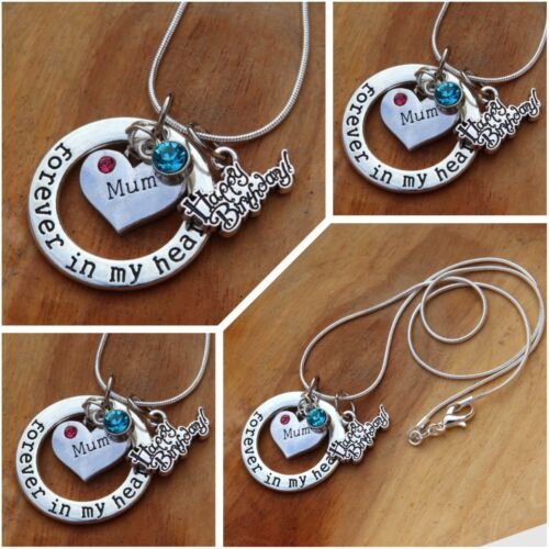 Personalised BIRTHDAY Gift Necklace - mum Daughter sister nana friend
