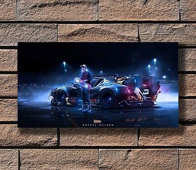 P-21 Art Back to the Future 1 2 3 Hot Amazing Movie LW-Canvas Poster 21 24x36in