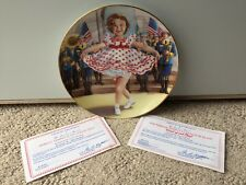 Shirley Temple  Stand Up and Cheer  Collector Plate COA Danbury Mint Exclusive