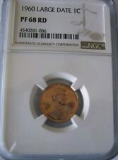 PR66RD 1960 RED LARGE DATE LINCOLN PENNY PCGS GRADED 1C PROOF COIN PR66 ONE CENT