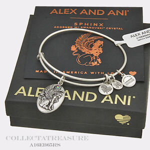 Authentic Alex and Ani Voyage Tropical Rafaelian Silver Charm Bangle