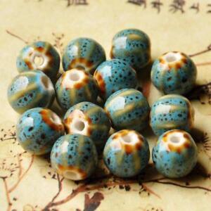 10pcs-Ceramic-Beads-12mm-Vintage-Flower-Glaze-Porcelain-Bracelet-Jewelry-Making
