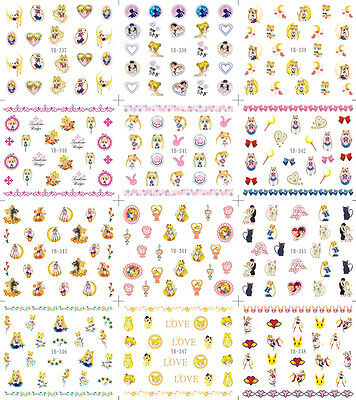Nail Art Water Transfer Decal Sticker U Pick Sailor Moon YB337-348