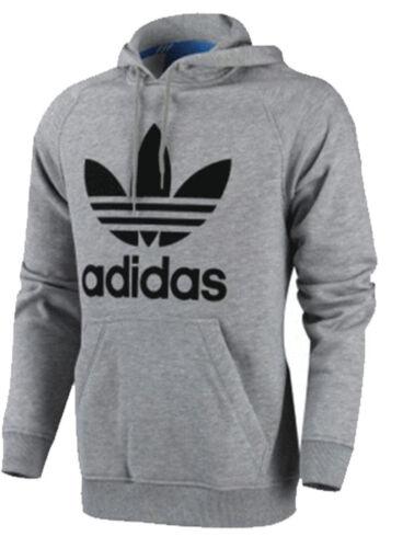 Adidas Originals Mens Trefoil Fleece Hooded Sweatshirt Hoodie Size S-M-L-XL