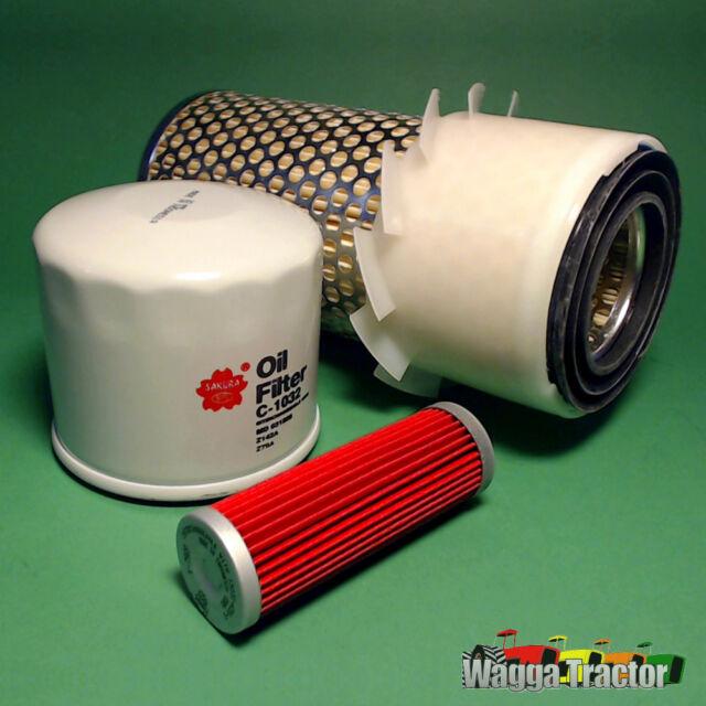 FLK5201-C Oil Fuel Air Filter Kit Kubota B5100 B6100 B7100 Tractor B6200 B7200