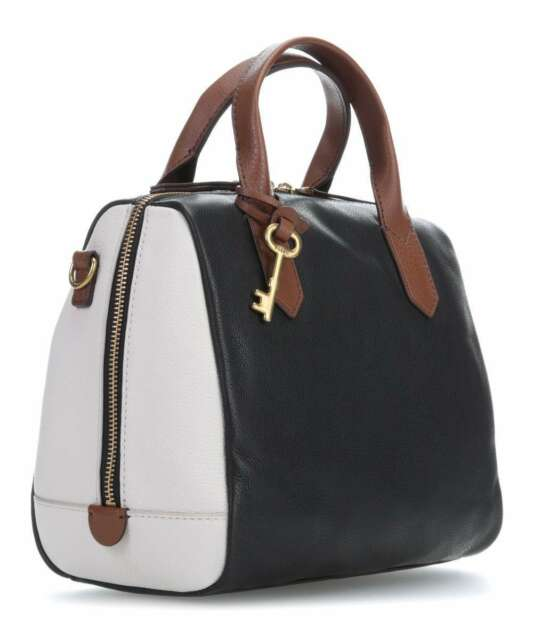 e1f94d6636 Fossil Fiona Satchel Black white Bag Zb7442005 for sale online