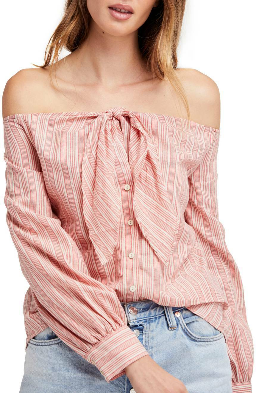 Free People Hello There Beautiful Shirt Größe M