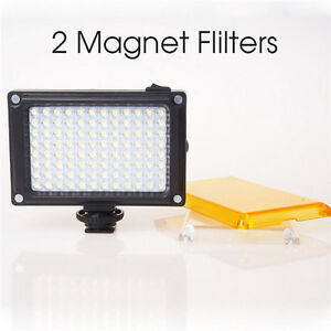 112 LED Camera Light - Dimmable Video Light Panel for DSLR Canon Nikon Camera AB