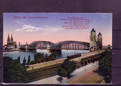 Weich Und Rutschhemmend Offen Gelaufene Ansichtskarte Köln hohenzollernbrücke- europa:11339