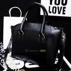 Fashion Hobo Shoulder Bag PU Leather Satchel Messenger Tote Women Handbags Black