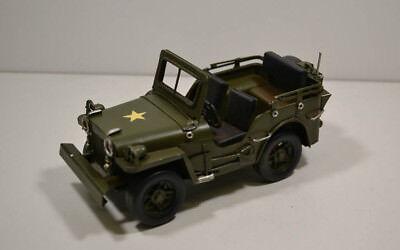 9 Militär Jepp 16,5 X 8 X 8,5 Cm Begeistert Blech-auto Military Ca