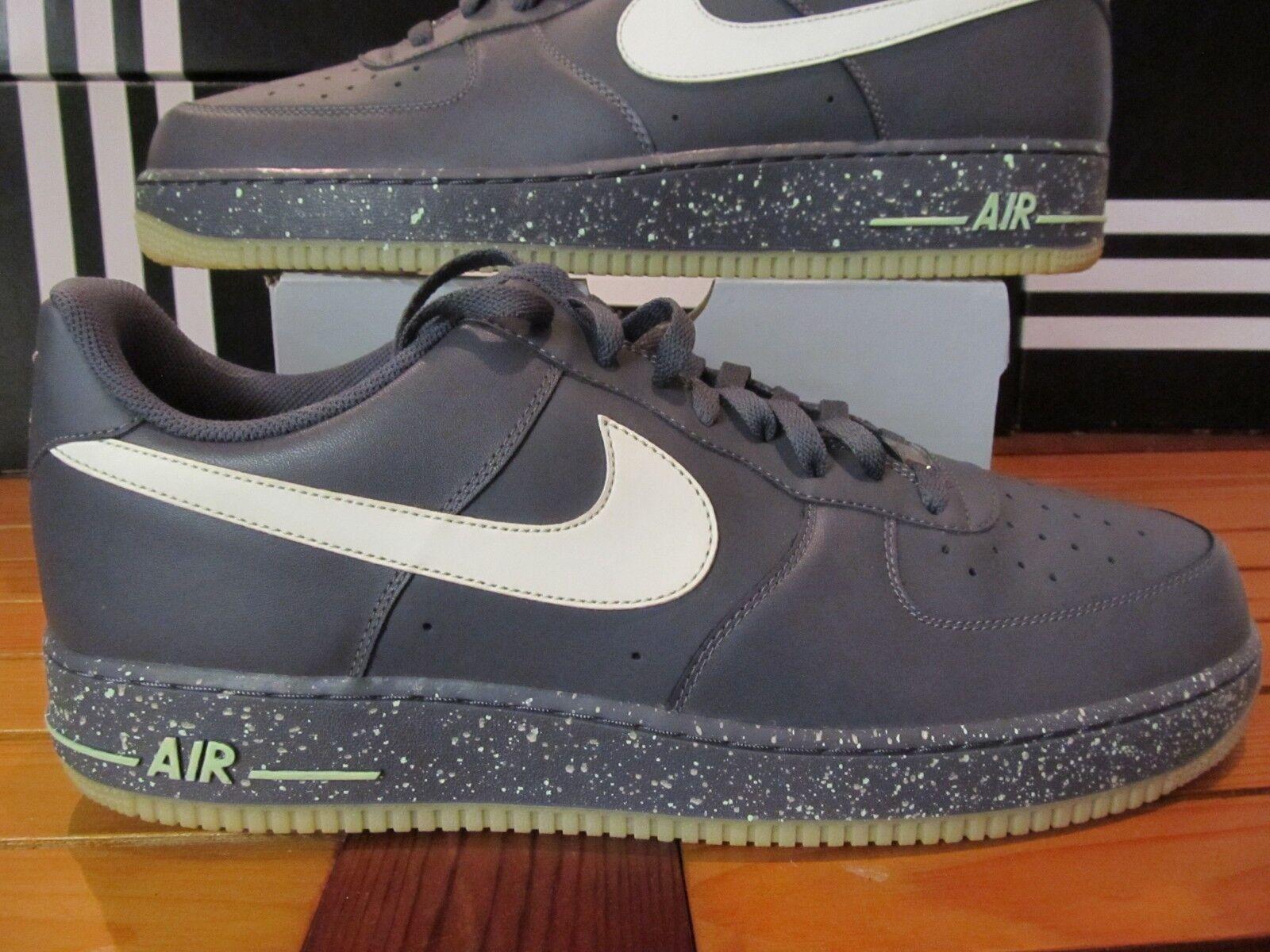 Selten Neu Nike Air Force 1 grey Leuchten Im Dunklen Gitd 16 488298 019 Prm Lux
