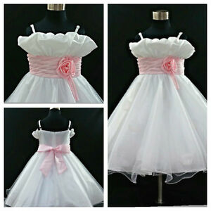 Christmas-Communion-Christening-Flower-Girls-Dresses-AGE-1-2-3-4-5-6-7-8-10-12Y