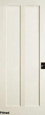 Primed 2 Panel Flat Mission Shaker Special Slant Sticking Solid Core MDF Doors