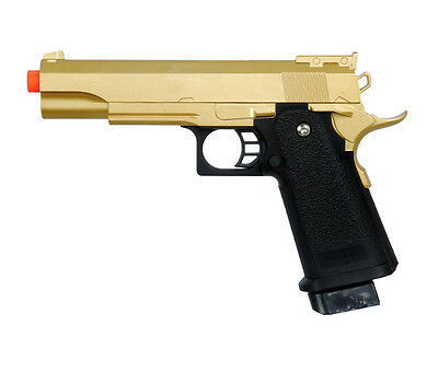 Galaxy G6 M1911 Colt 1911 A1 Metal Airsoft Spring Handgun Pistol Gold