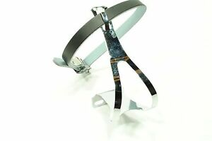 TRACK-ROAD-BIKE-STEEL-TOE-CLIPS-amp-LEATHER-STRAPS-LARGE