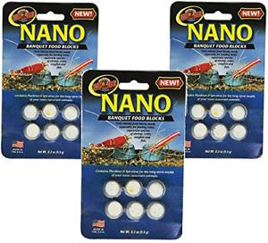 3 Pack Zoo Med Laboratories Nano Banquet Block Mini, 0.3 oz Each
