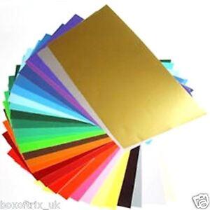 10x matt self adhesive vinyl a4 sheets craft robo for Vinyl sheets for crafts