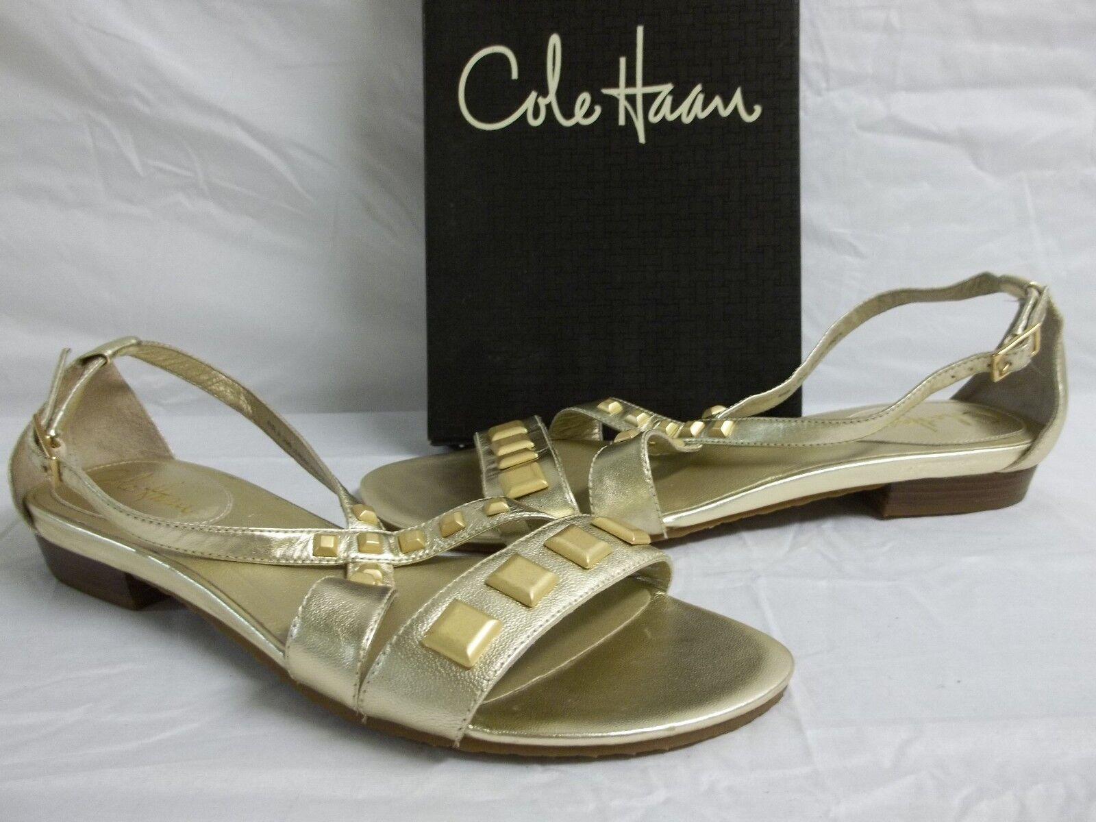más vendido Cole Haan M oro Suave De Cuero Aire Hadley Sandalias Sandalias Sandalias nuevo Zapatos para mujer  ventas en linea