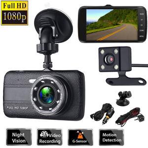 4-034-Dual-Lens-Camera-1080P-Car-DVR-Dash-Cam-Rearview-Video-Recorder-Night-Vision
