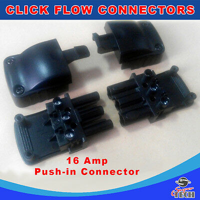 UEP 3 Pole Flow Connector Screwless Push In Pull Apart ChocBox Replacement