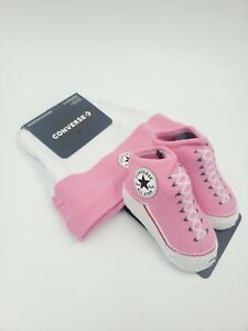 Details about Converse Chuck Taylor Baby Girls Hat & Booties Gift Set, 6 12 Months, Pink L33