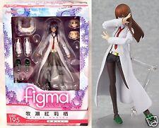 New Figma Kurisu Makise White Coat Ver 195 Steins Gate Max Factory Action Figure