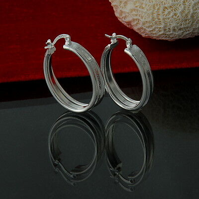 Wholesale New Style Fashion Jewelry 925Silver Lady Chic Nice Big Circle Earring
