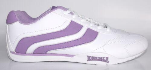 EX Women LONSDALE trainers white purple BNIB HUDSON 7513//112075