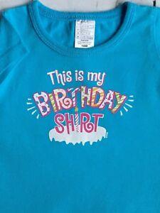 Image Is Loading Girls Birthday Shirt Size 18 Months Aqua Blue
