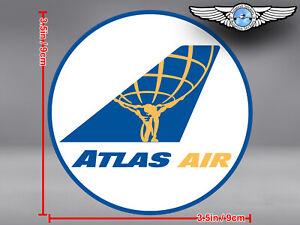 ATLAS AIR ATLASAIR ROUND LOGO STICKER / DECAL
