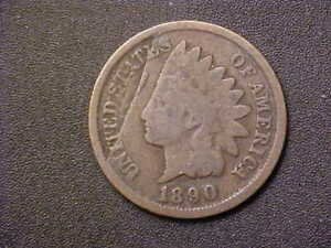 1890-INDIAN-CENT-OBVERSE-LAMINATION-NICE-ERROR-COIN-c114ucxx