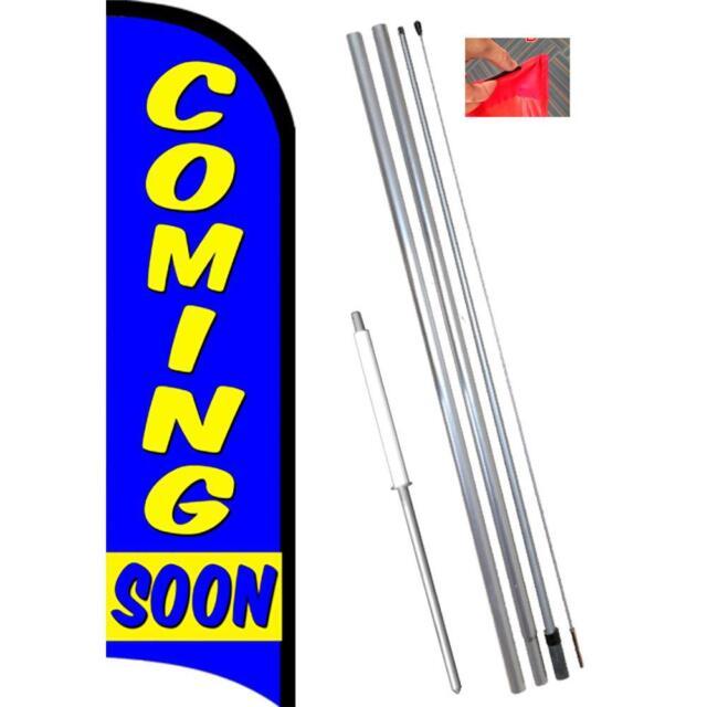 We Buy Gold Flutter Feather Flag Kit Bundle Flag, Pole, /& Ground Mount
