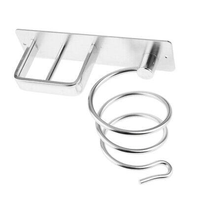 Suszian Autoadesivo Bianco Supporto per asciugacapelli in Ferro battuto per Montaggio a Parete