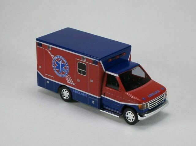 H0 Ford E-350 Ambulance Raytown Ambulance Neu Busch 41840-1//87