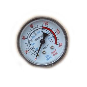 Hot-0-180PSI-Air-Compressor-Pneumatic-Hydraulic-Fluid-Pressure-Gauge-0-12Bar