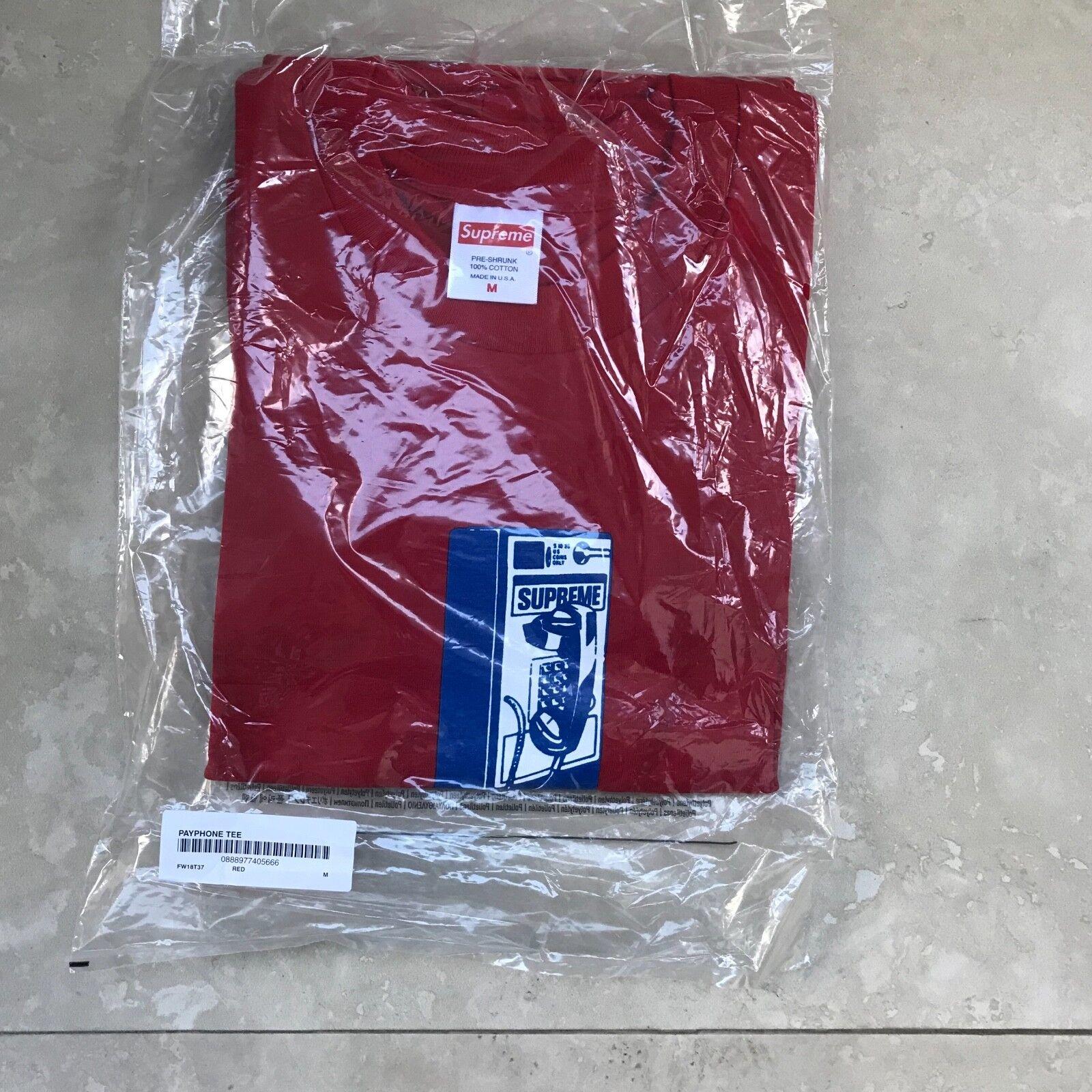 SUPREME PAYPHONE T-SHIRT ROT Größe Medium BOX LOGO Mark Gonzales Jason Dill GZA
