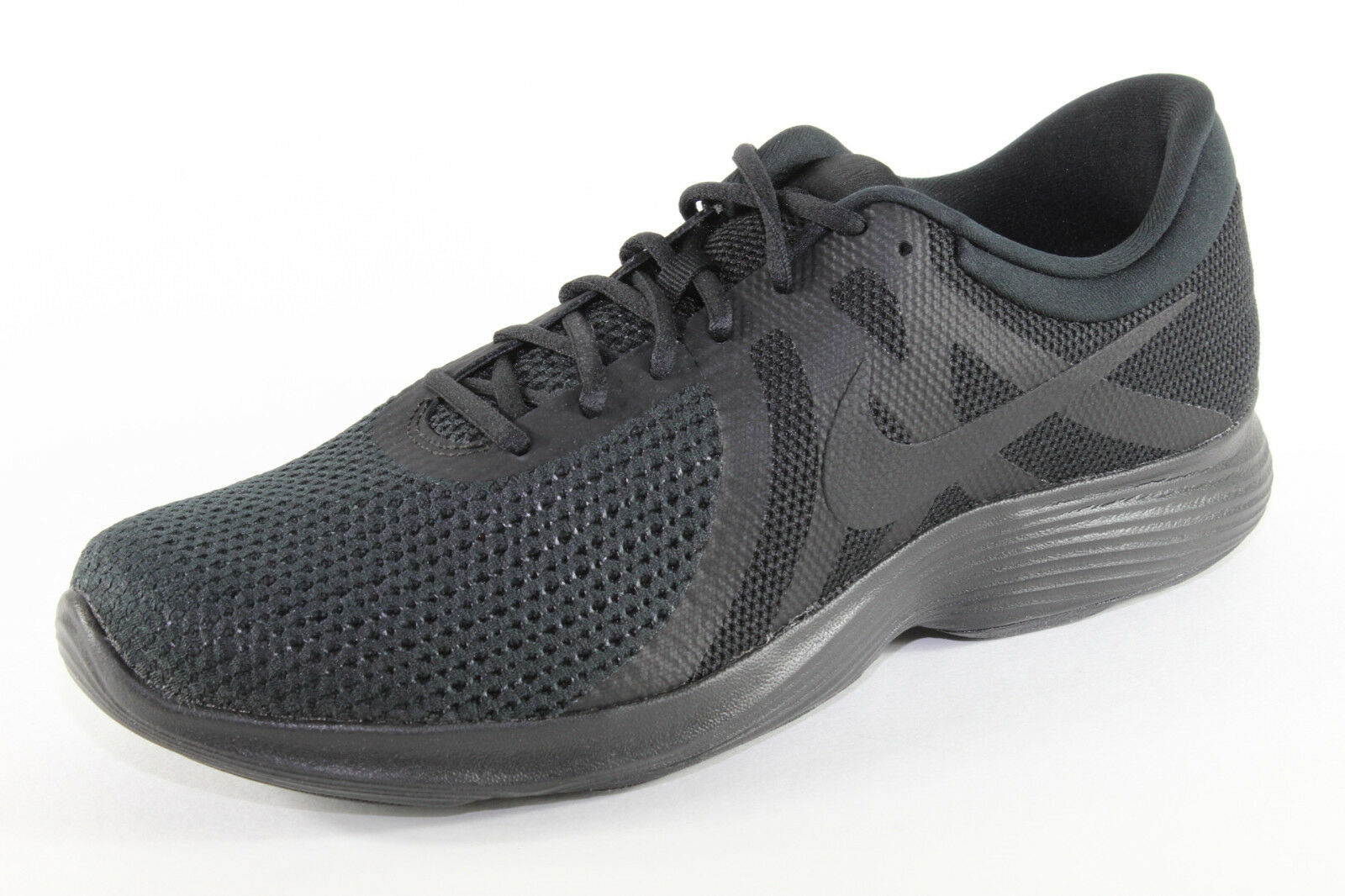 Nike Revolution 4 EU, leichte Laufschuhe in Schwarz, Herrenschuhe Übergröße