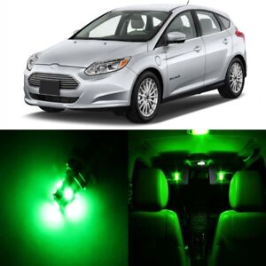 9 X Green Led Interior Light Package For 2012 2018 Ford Focus