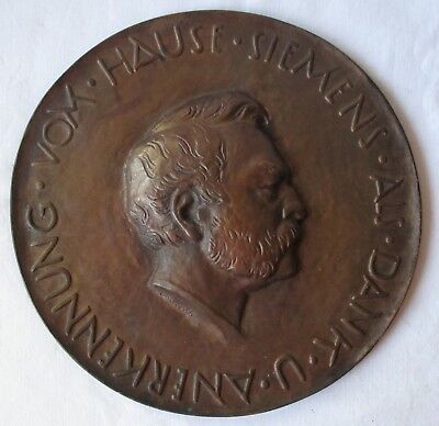 Dedicated Große Gussmedaille Als Dank & Anerkennung V Hause Siemens a.klingler /111769