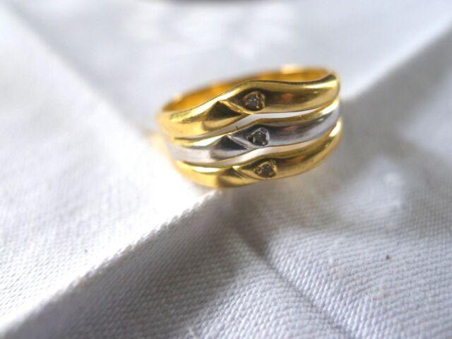 Ring  Goldring Bicolor Diamant