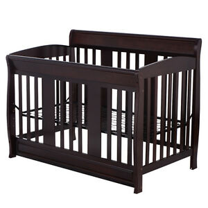 baby crib 4 in 1 convertible toddler bed daybed full size beds solid pine wood ebay. Black Bedroom Furniture Sets. Home Design Ideas