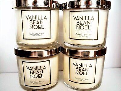 Bath Body Works VANILLA BEAN NOEL Candles, 4 oz., NEW x 4 ...