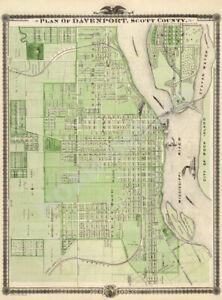 Map of Nashua New Hampshire c1875 24x36