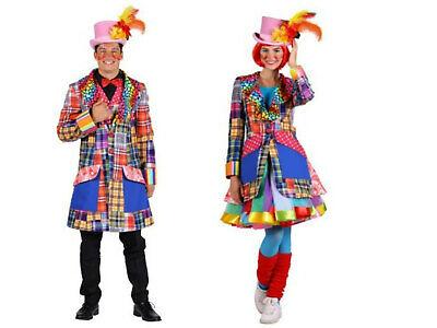 excl. Clown Frack bunte Jacke Clownkostüm Damen Herren