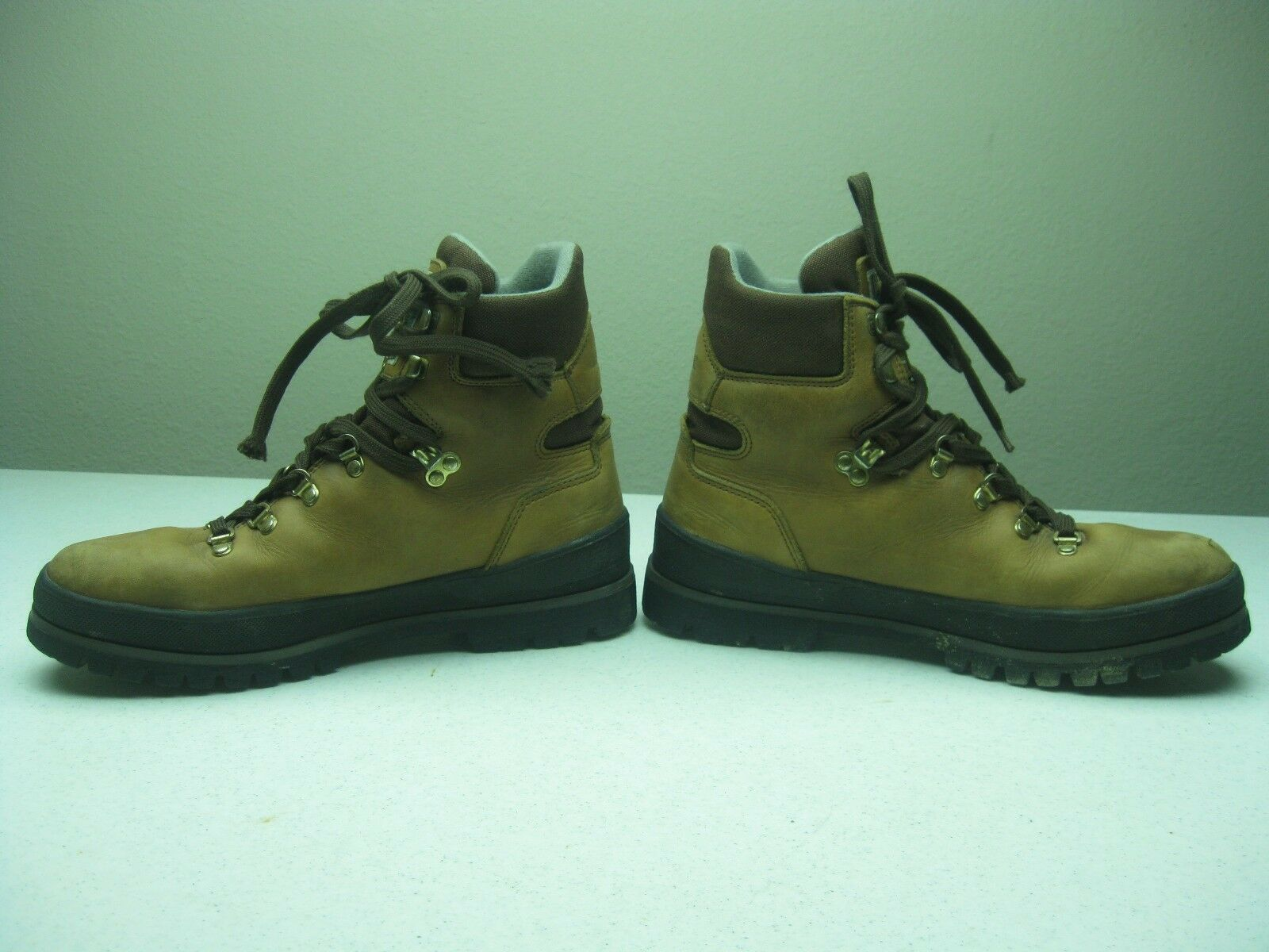 Vintage Brown Made in Italy TECNICA TREKKING Mountaineering Hiking Trail Stivali